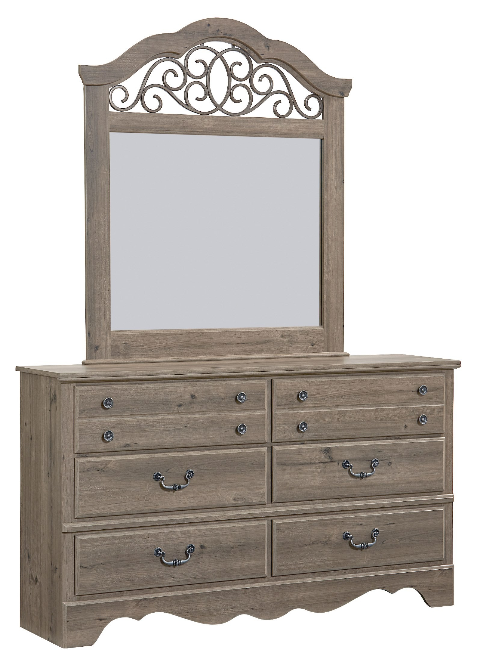 Weathered Bedroom Furniture tressa 5 piece king bedroom set