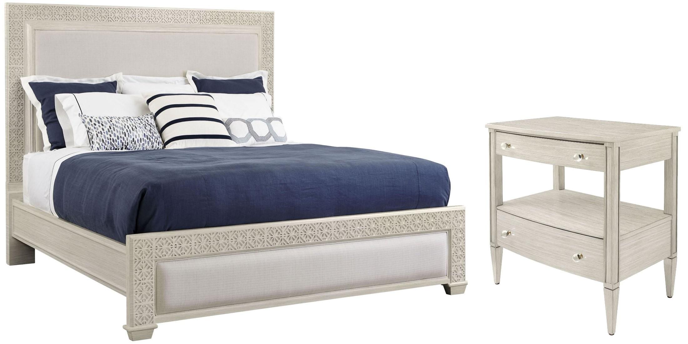 Coastal living oasis oyster catalina panel bedroom set for Coastal furniture