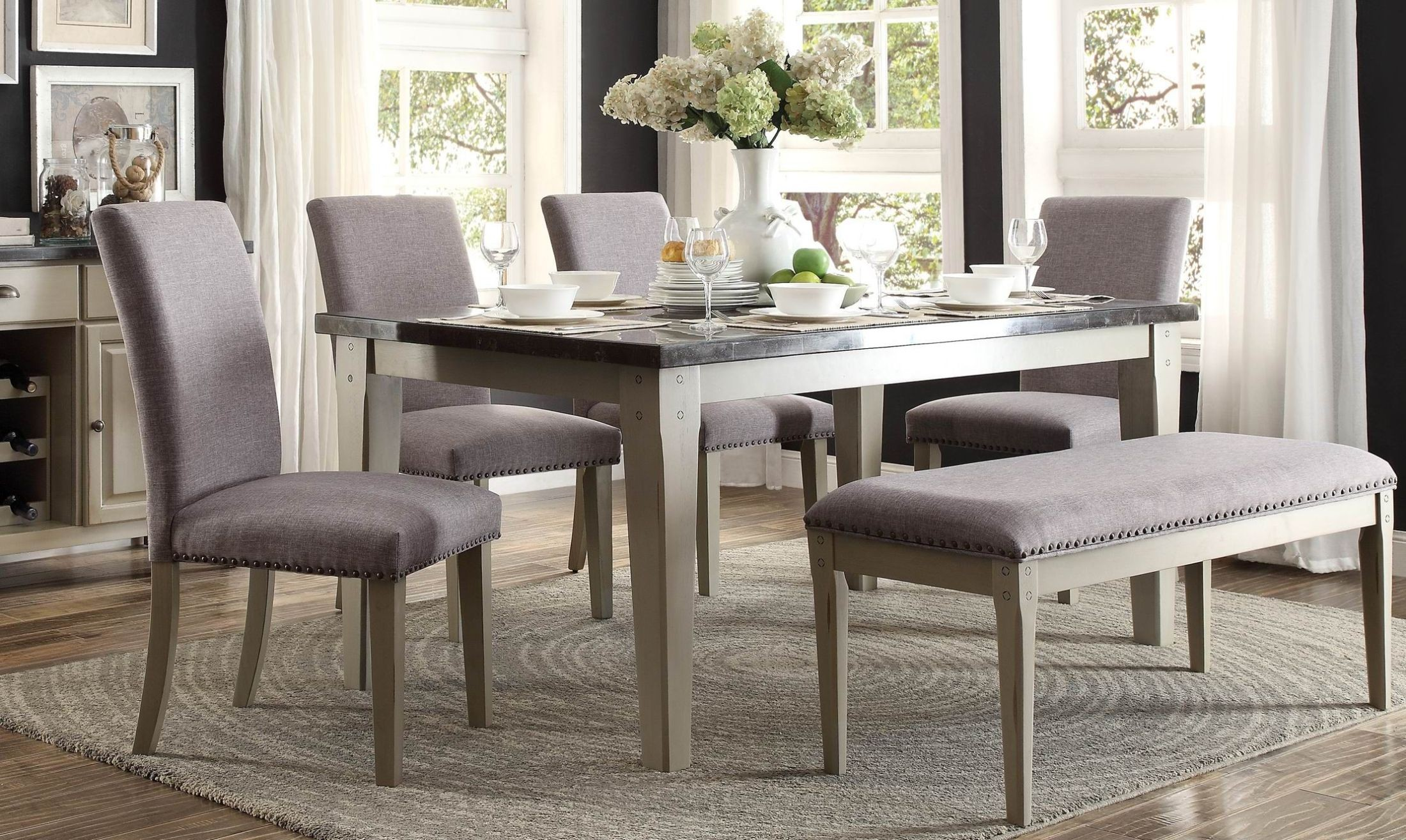 mendel gray dining room set 5280 64 homelegance