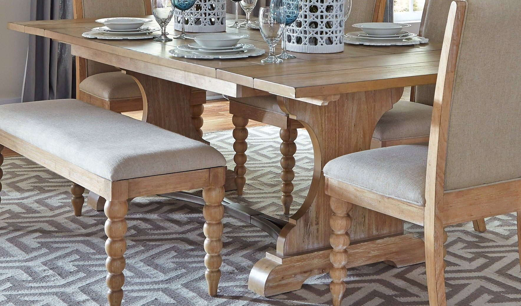 harbor view trestle dining room set