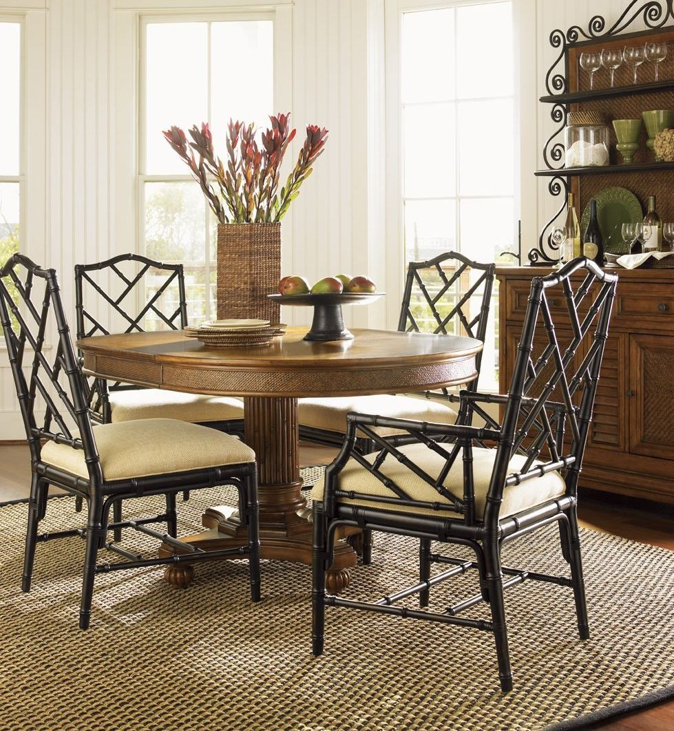Island estate plantation brown cayman kitchen table 01 0531 870 tommy bahama - Brown kitchen table ...