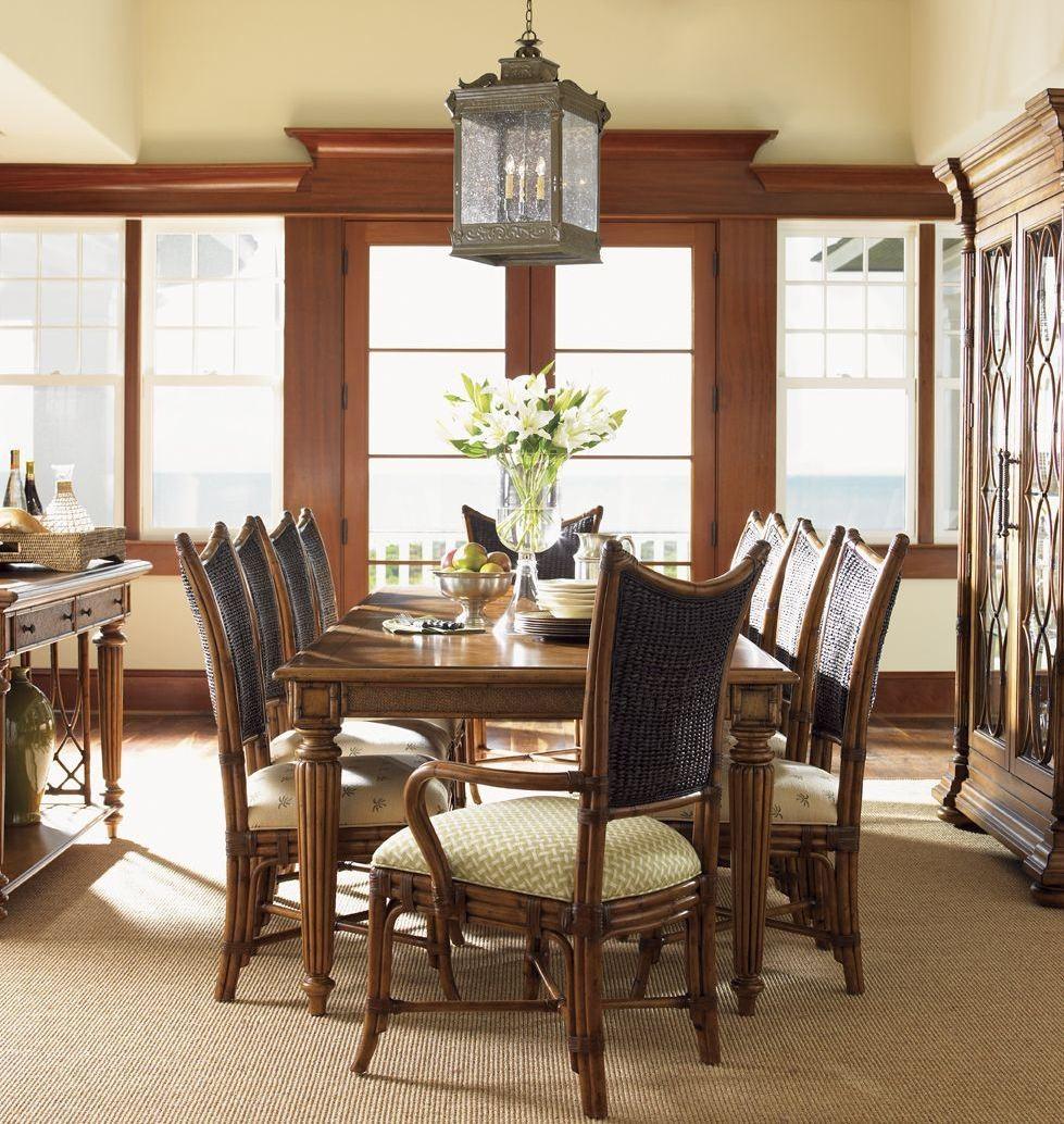 Island Estate Plantation Brown Grenadine Extendable Rectangular Dining Table