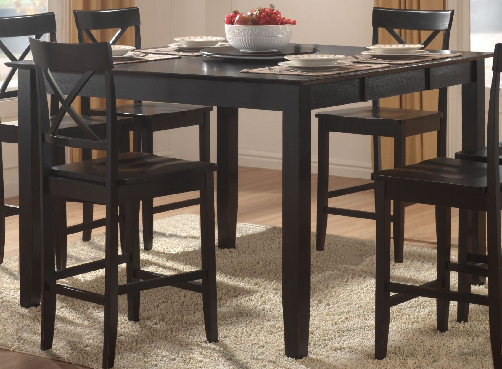 billings counter height dining room set from homelegance furniture