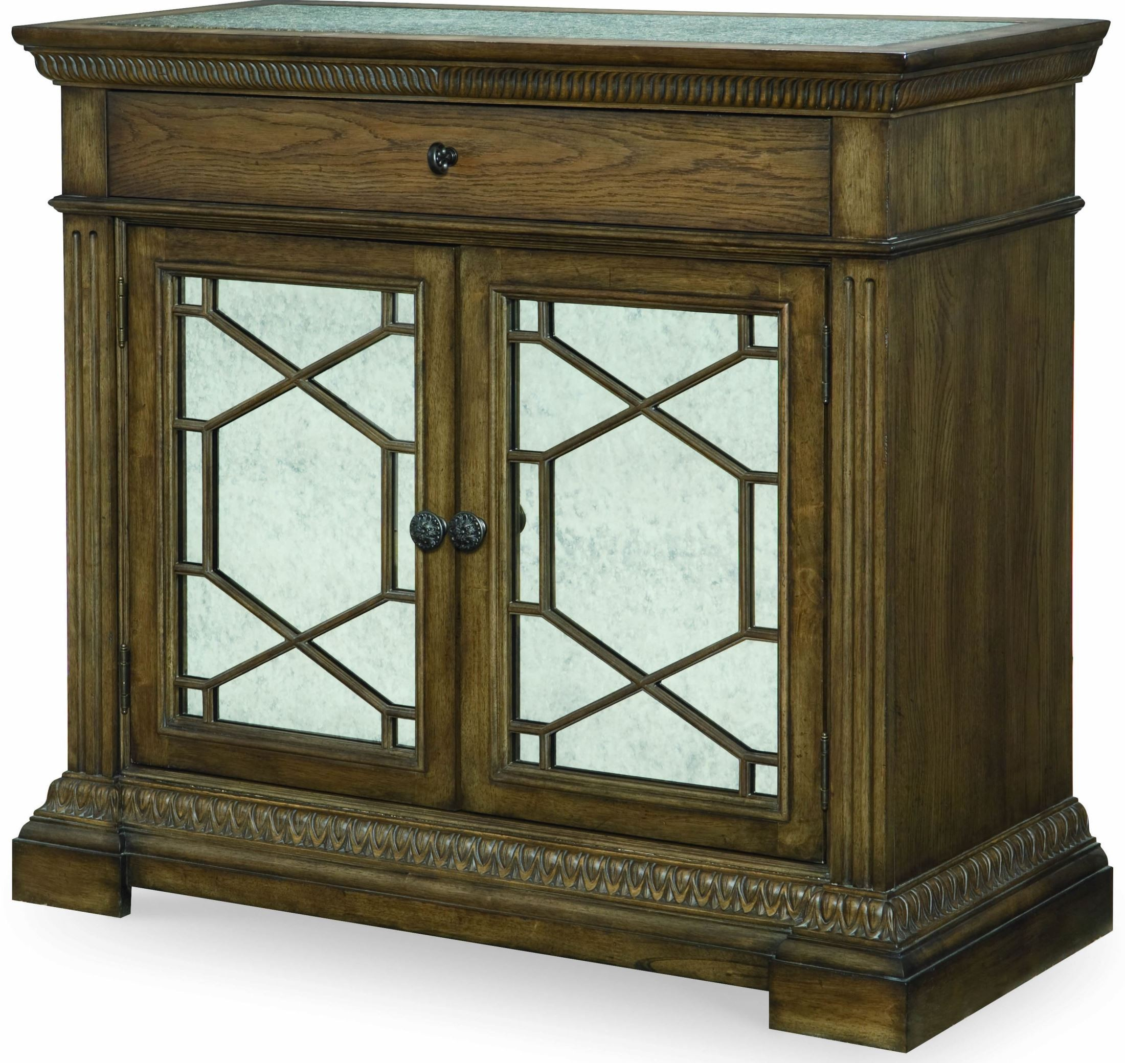 renaissance waxed oak arched panel bedroom set from legacy classic