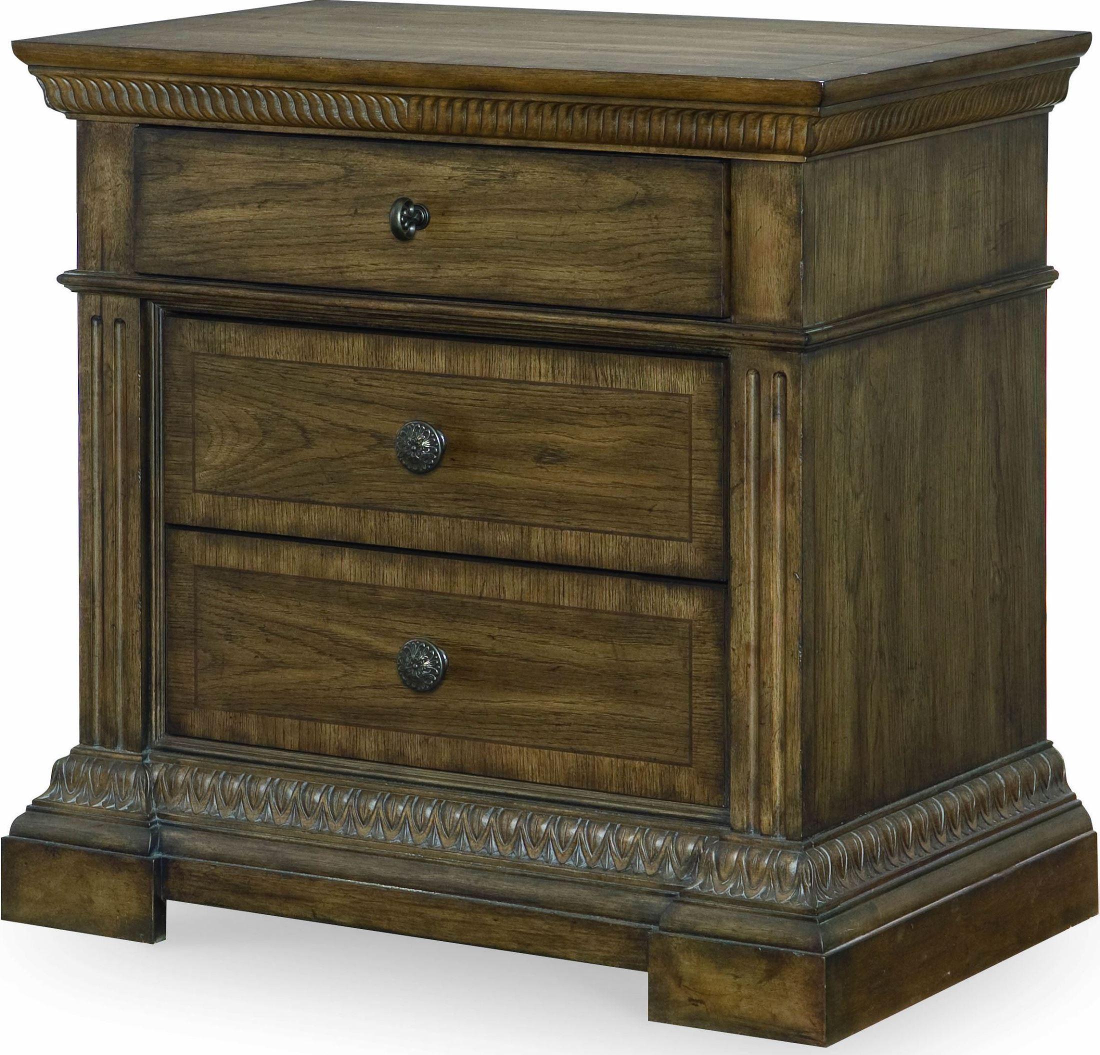 renaissance waxed oak upholstered panel bedroom set from legacy