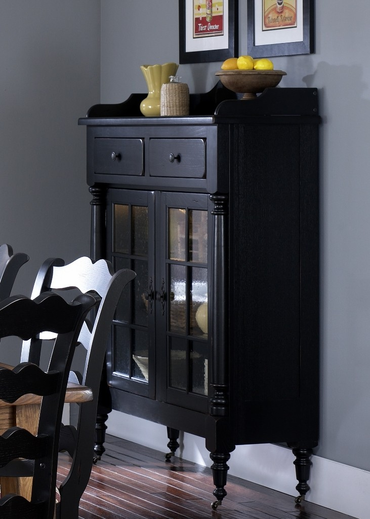 Treasures Black Display Cabinet From Liberty 17 CH4866B Coleman Furniture