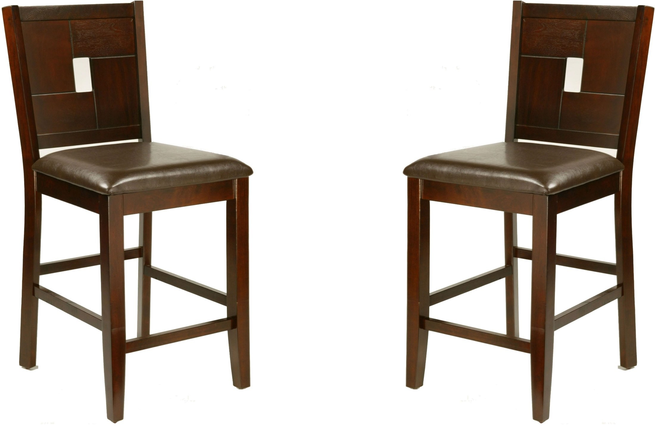 Counter Height Espresso Chairs : Lakeport Espresso Counter Height Pub Chair Set of 2, 552-02, Alpine