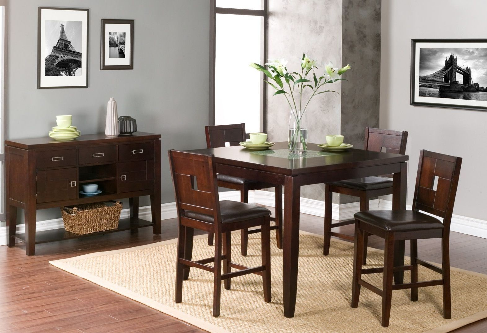 lakeport espresso counter height dining room set 552 01