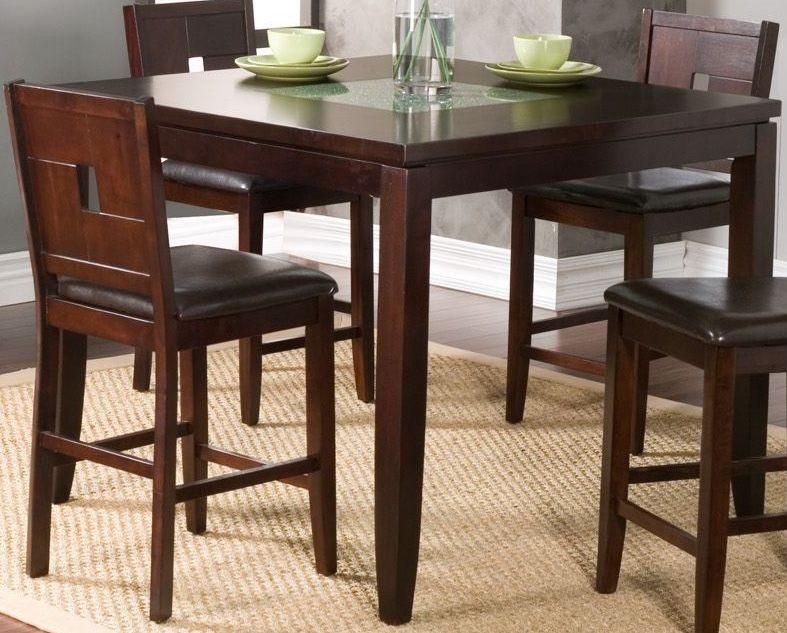 Counter Height Espresso Table : Lakeport Espresso Counter Height Pub Table, 552-01, Alpine