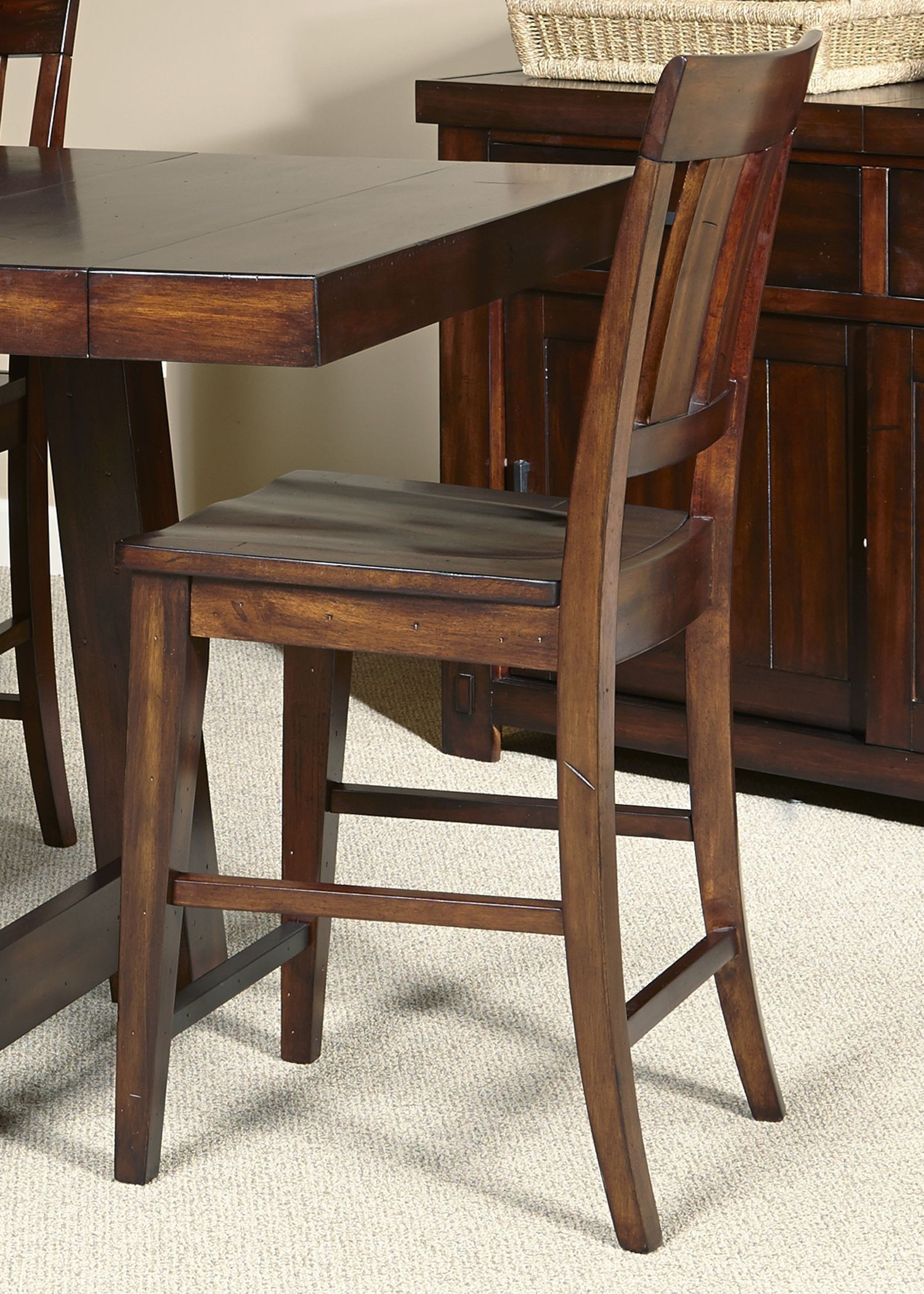 Tahoe Mahogany Stain Gathering Dining Room Set From Liberty (555 . Full resolution  img, nominally Width 1500 Height 2100 pixels, img with #966435.