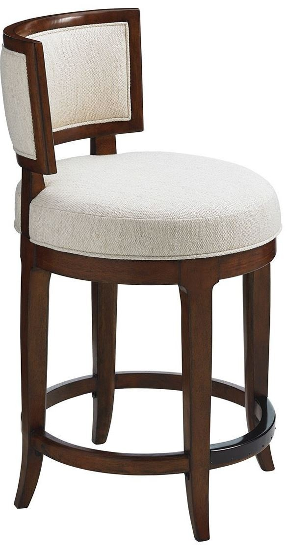 Island Fusion Macau Fabric Swivel Counter Stool From Tommy