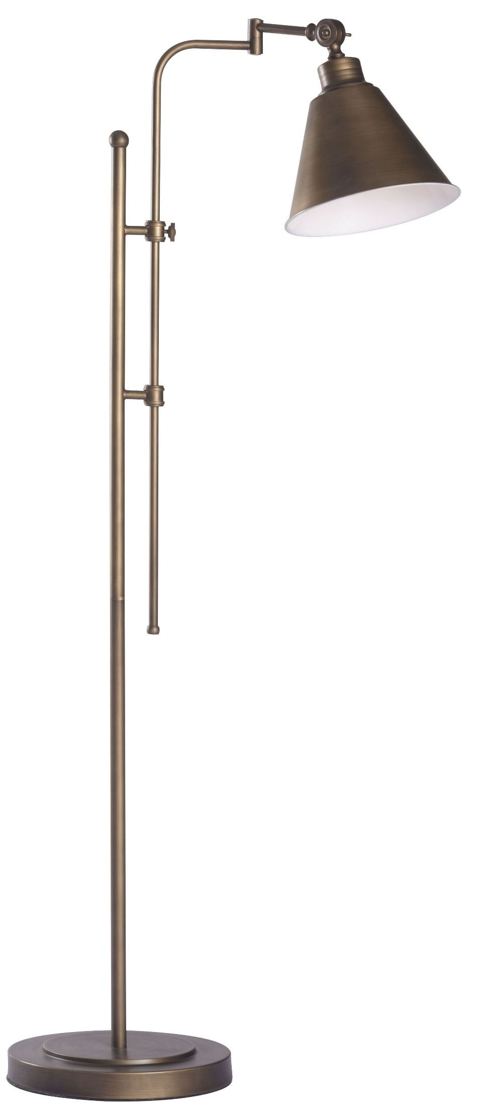 Rush brushed bronze floor lamp from zuo mod 56005 for Brushed copper floor lamp