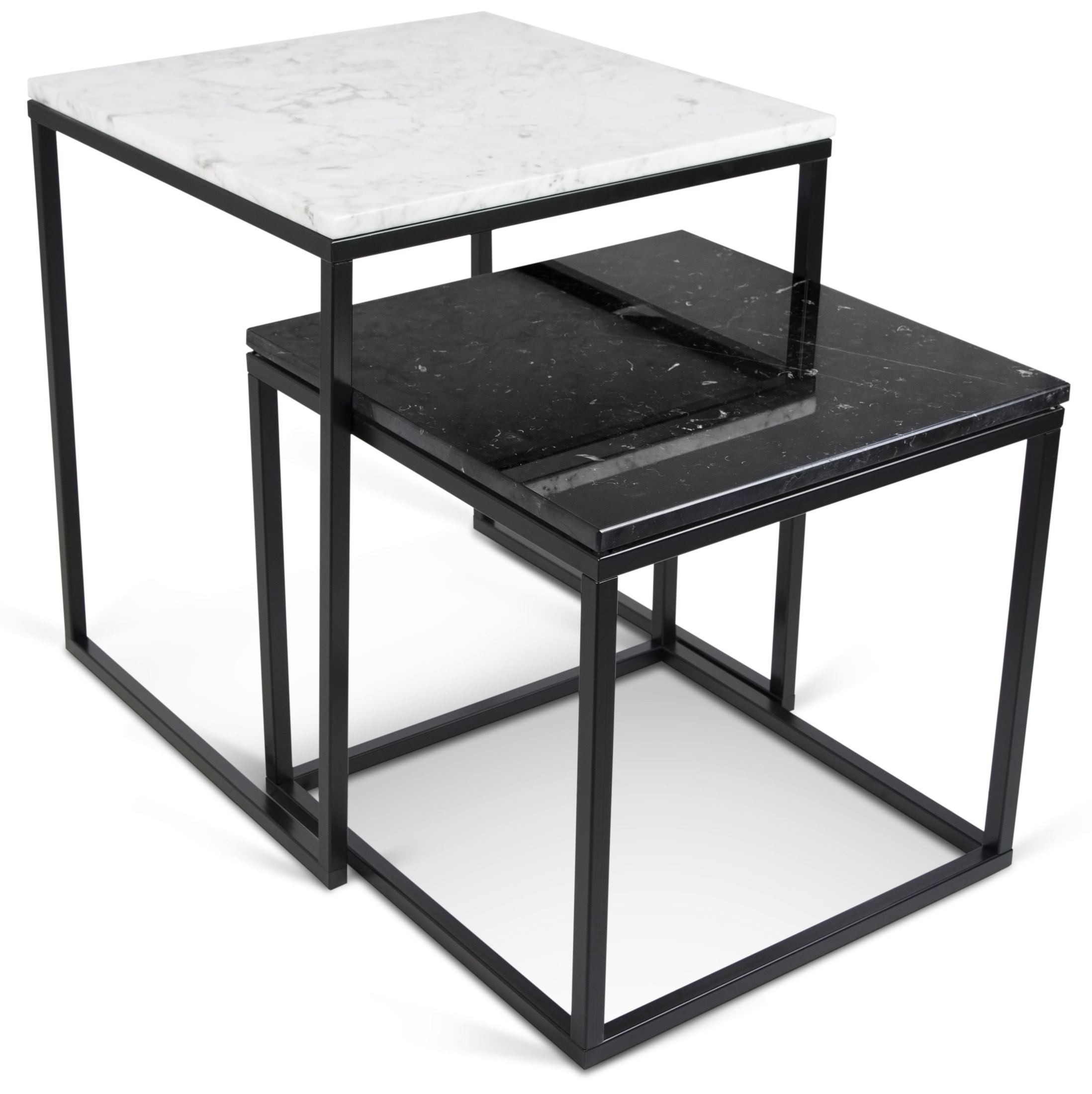 Prairie White Marble Top Nesting Tables 9500.312557 Tema Home. Full resolution  image, nominally Width 2196 Height 2200 pixels, image with #5F646C.