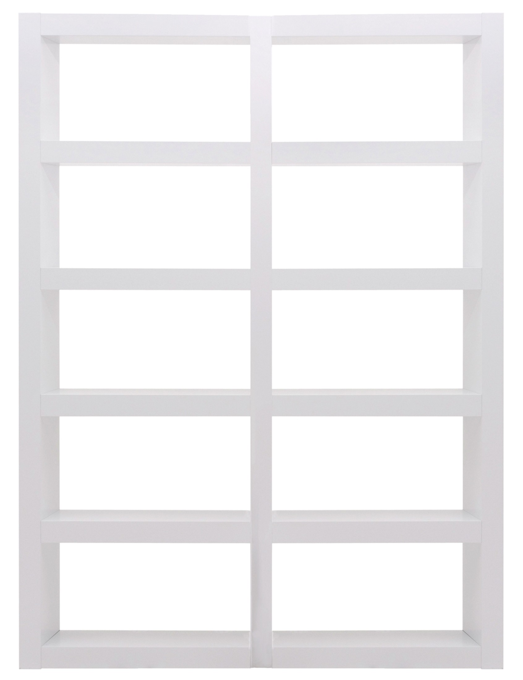 Denso High Gloss White 10 Shelf Bookcase Unit From Tema