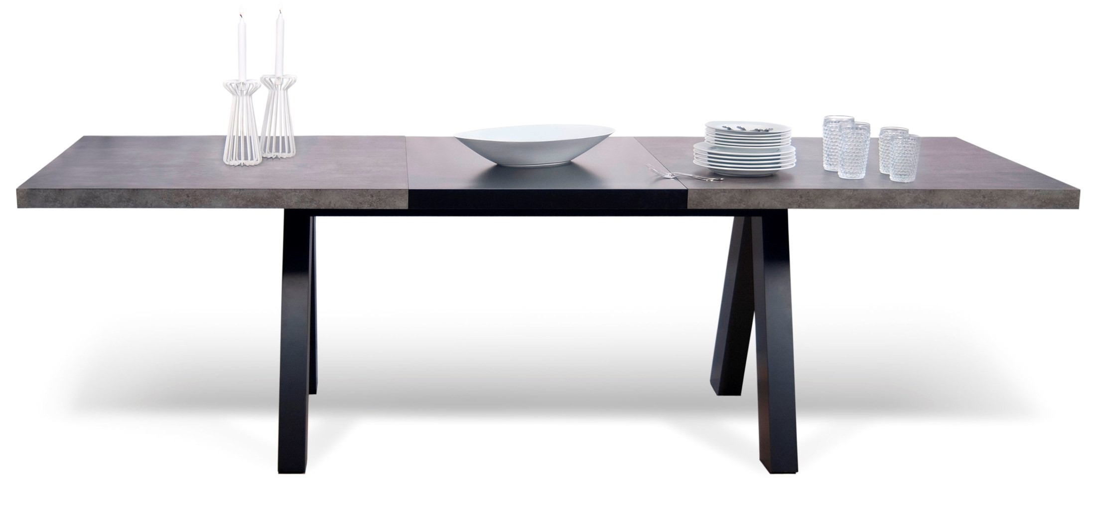 Apex Concrete Extendable Dining Work Table From Tema