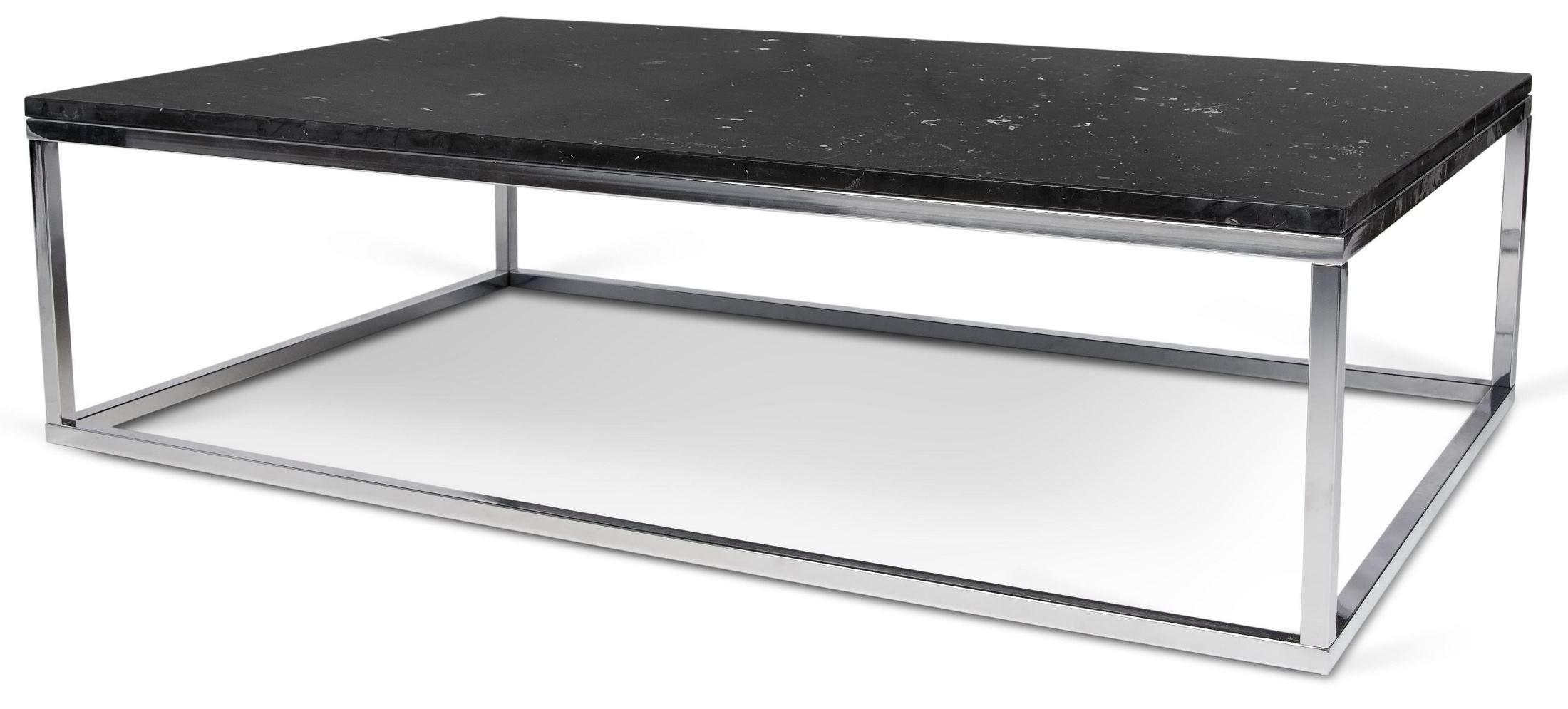 Prairie Black Marble Top Chrome Coffee Table Tema Home