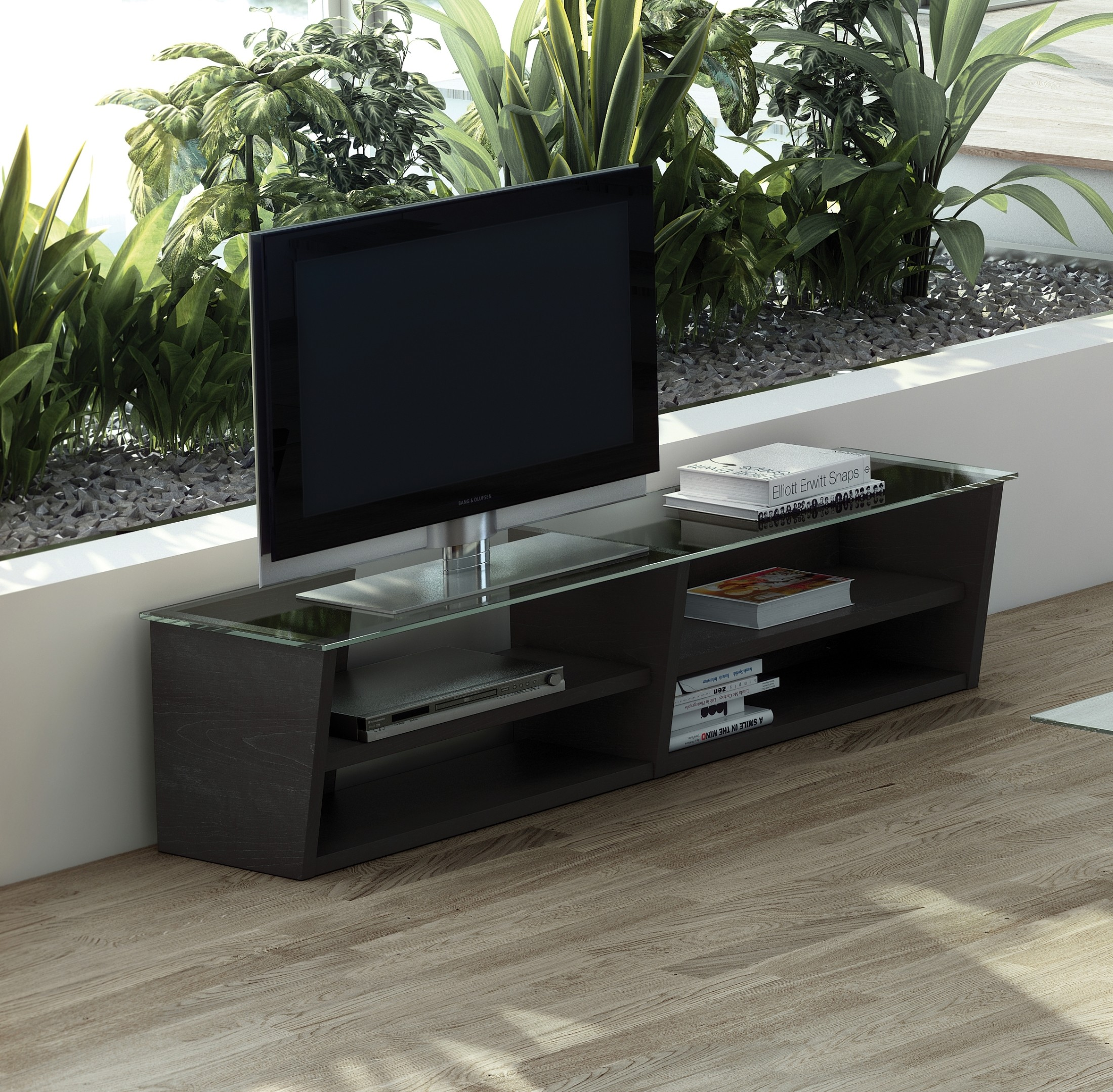 oliva wenge 67 tv console from tema home. Black Bedroom Furniture Sets. Home Design Ideas