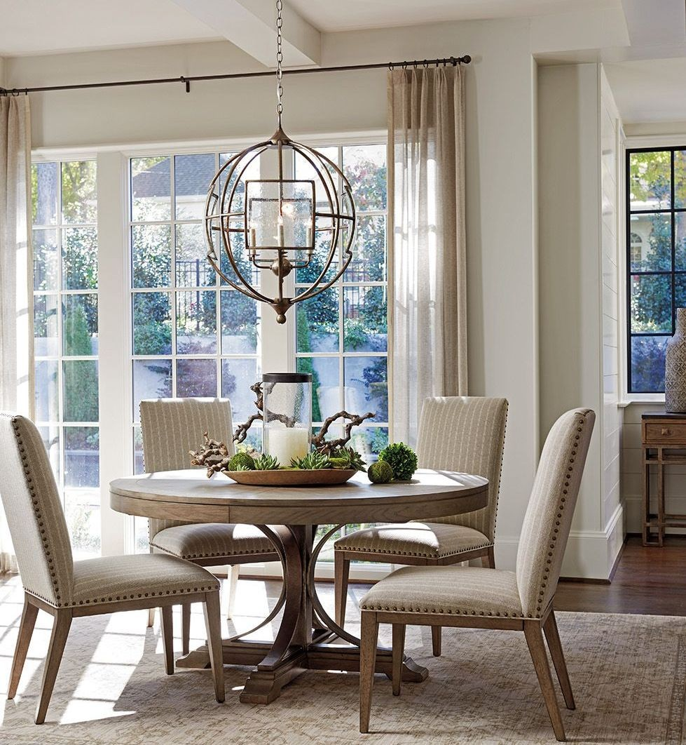 Cypress Point Atwell Extendable Round Dining Table 01