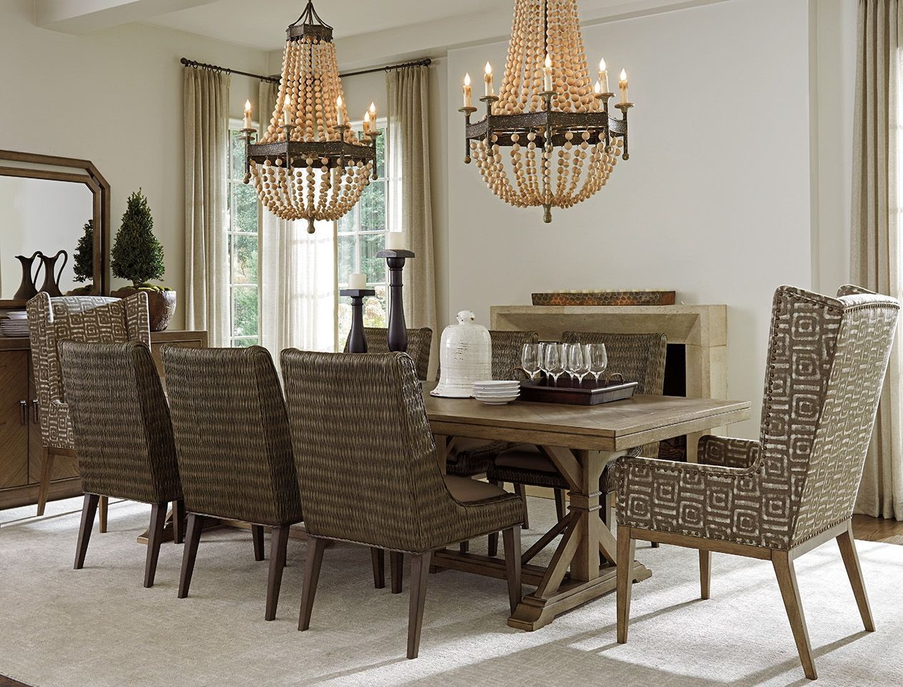 cypress point pierpoint extendable rectangular dining table 01 0561 876c tommy bahama. Black Bedroom Furniture Sets. Home Design Ideas