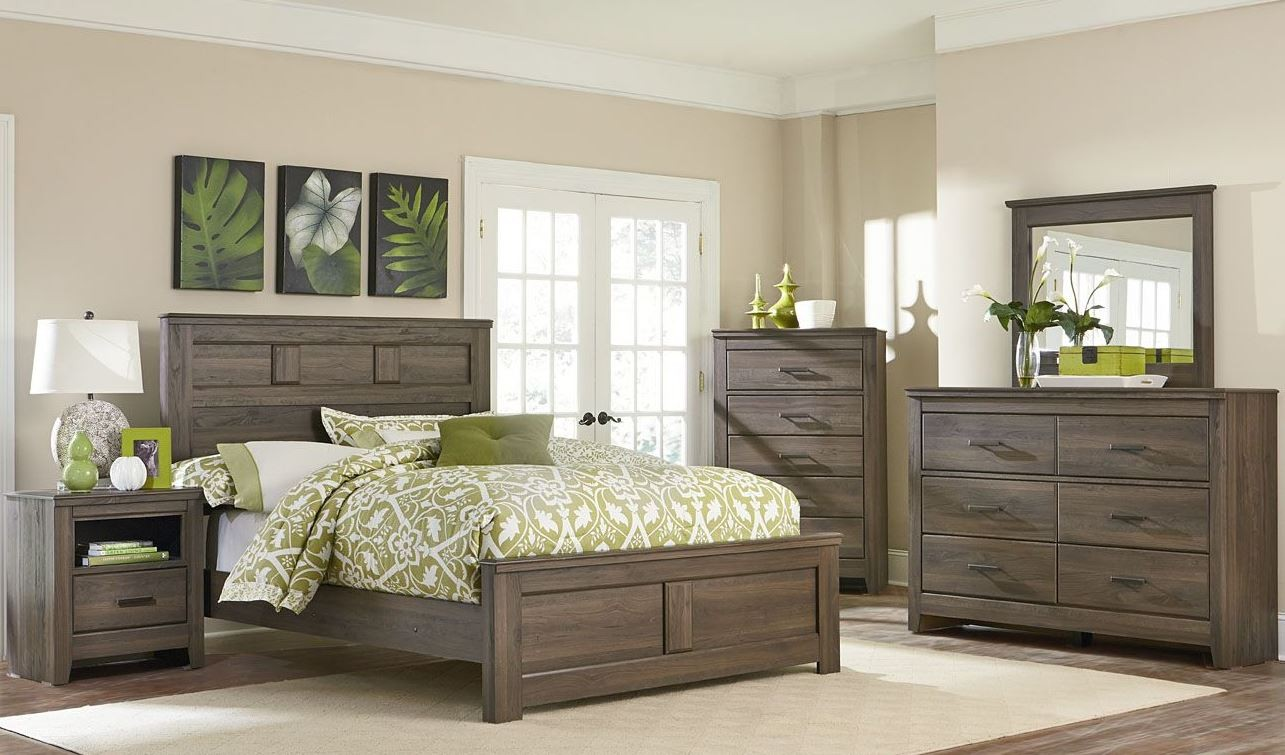 dark brown panel bedroom set 56502 56530 56512 standard furniture