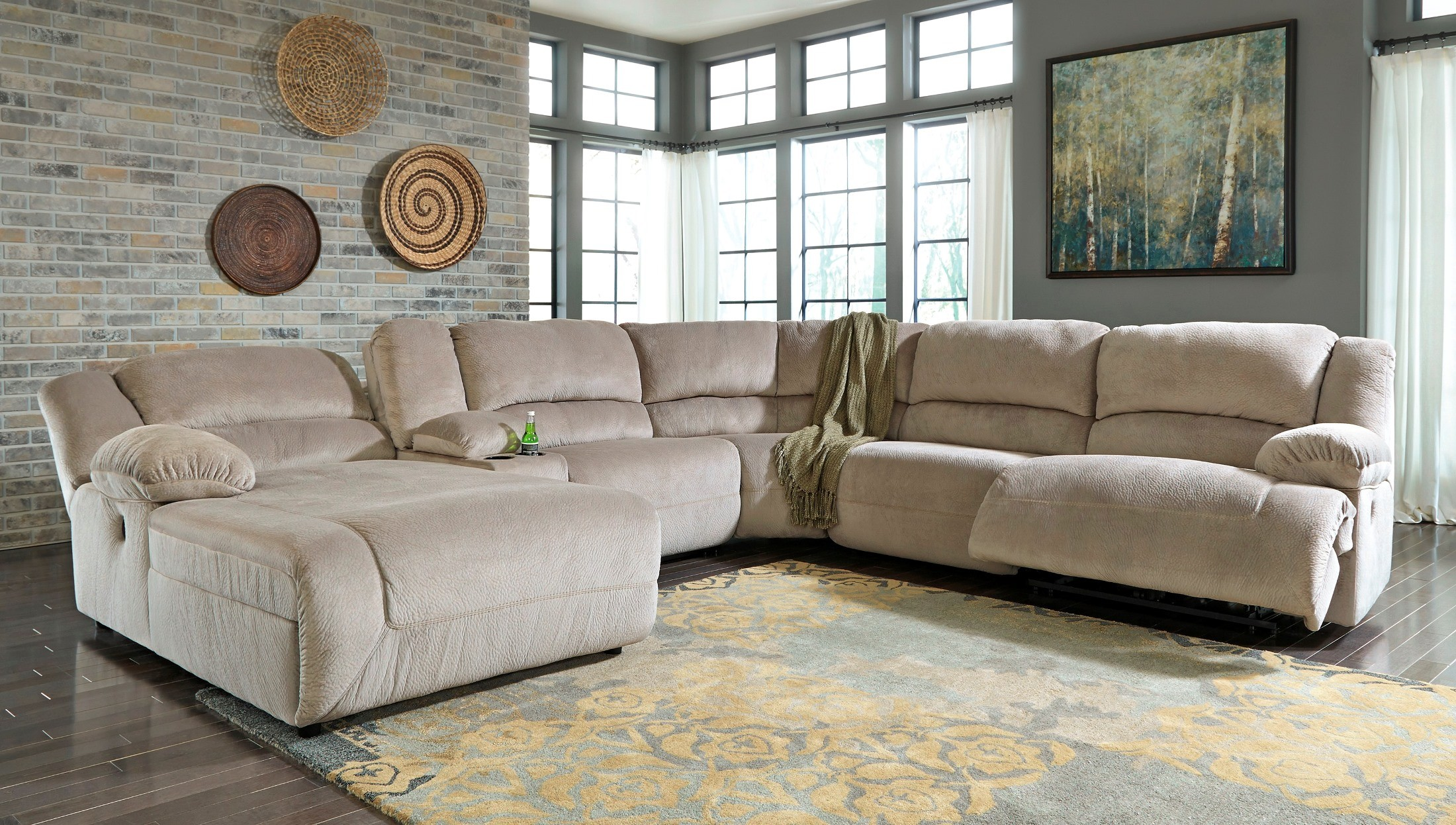 Toletta Granite Raf Sectional From Ashley 5670341