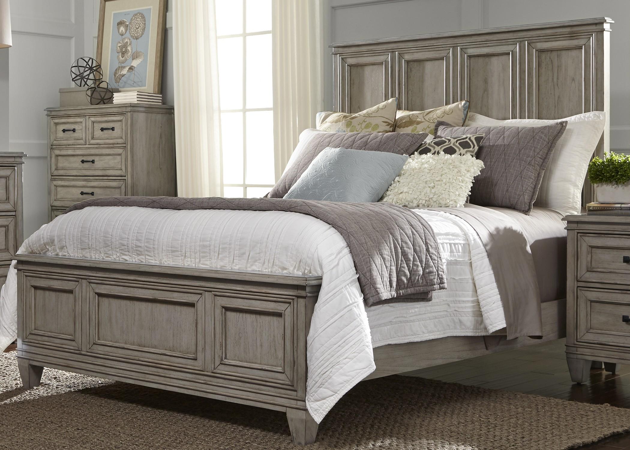 Grayton Grove Driftwood Panel Bedroom Set, 573-BR-QPB, Liberty