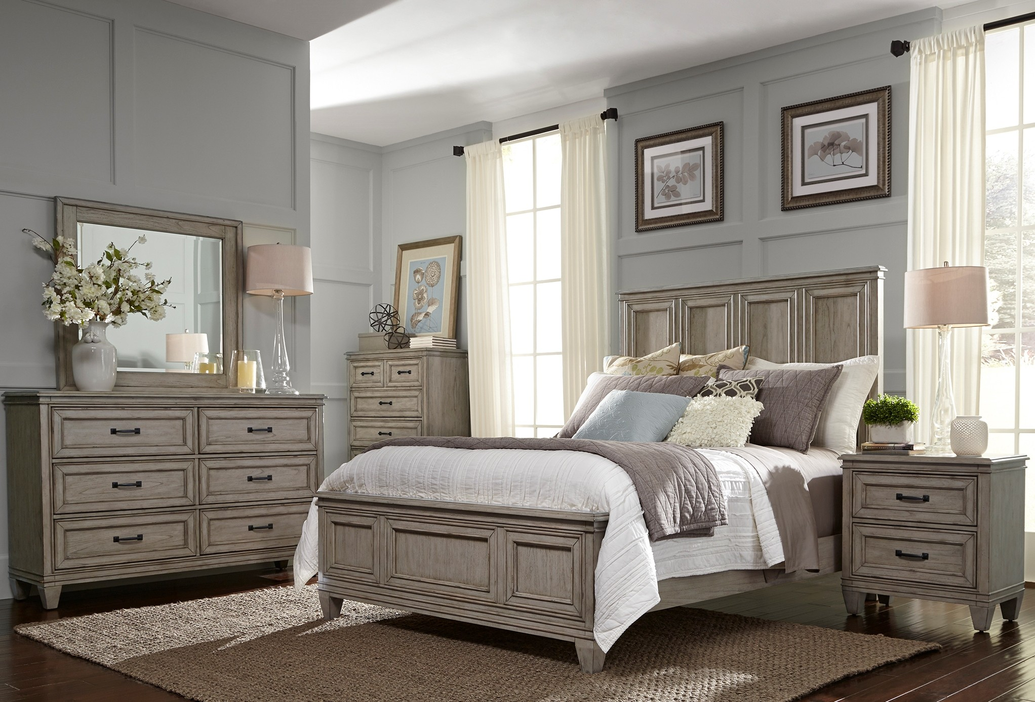 grayton grove driftwood panel bedroom set 573 br qpb liberty