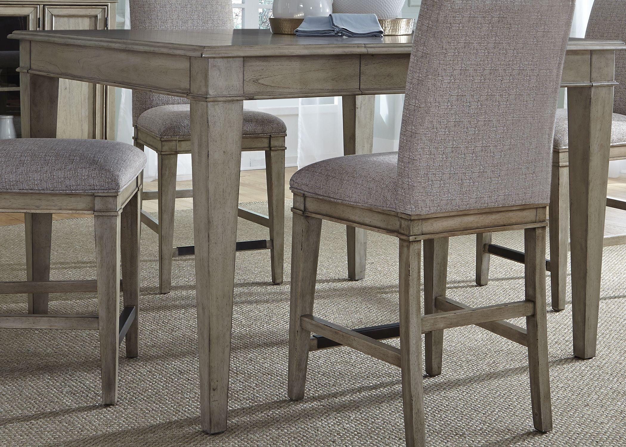 Grayton grove driftwood extendable counter height dining for Counter height extendable dining table