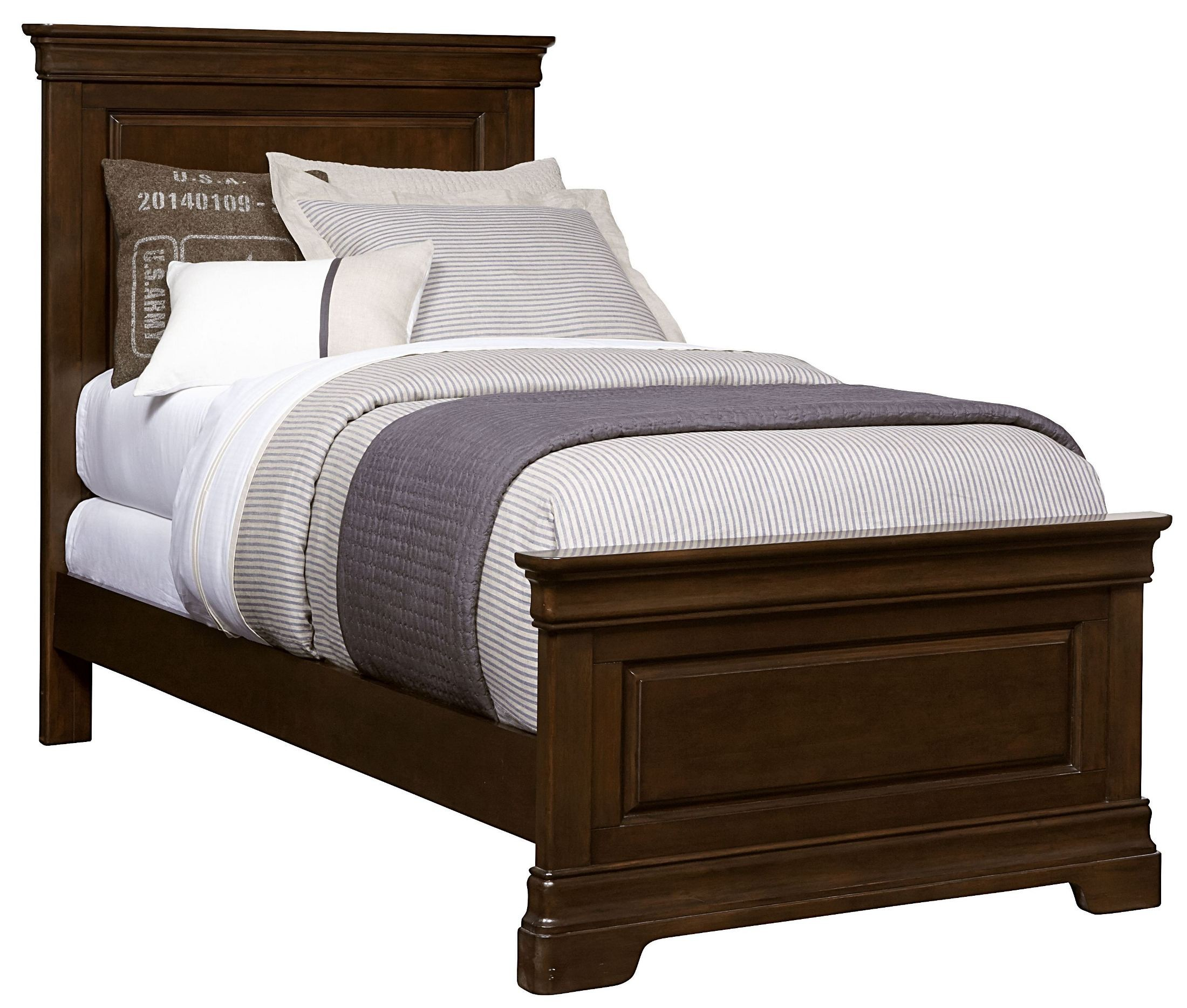Teaberry Lane Midnight Cherry Twin Panel Bed 575 13 35 Stone And Leigh