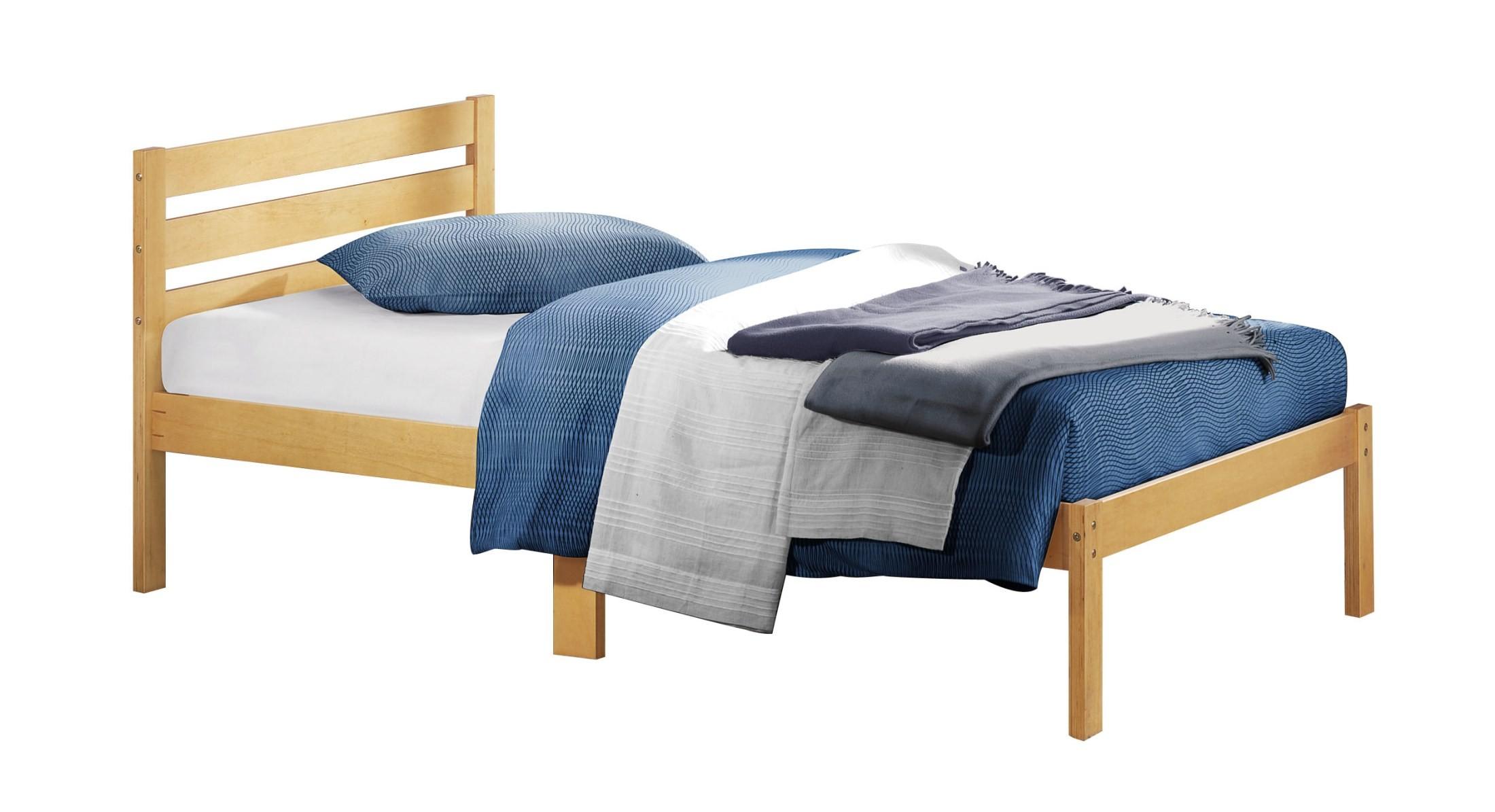 Bart light oak twin platform bed from homelegance 5794tak 1 coleman furniture - Oak platform beds ...