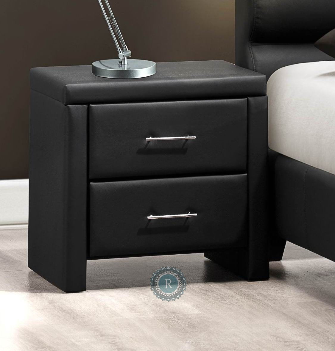 Aven Black Night Stand 5795bk 4 Homelegance