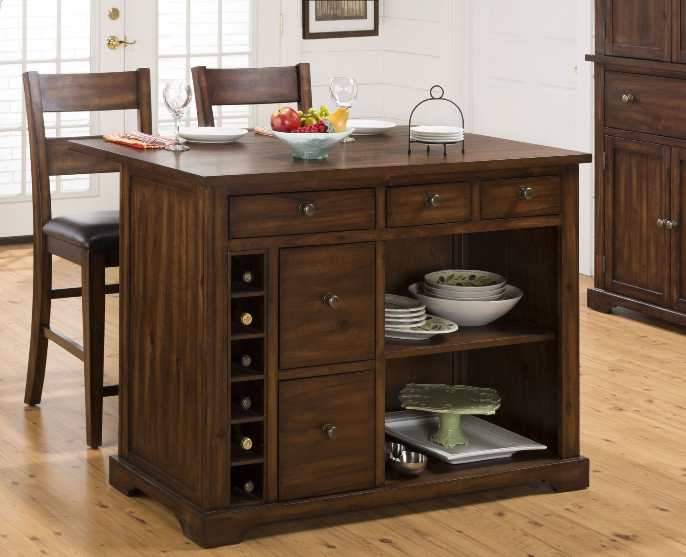Cooke County Extendable Kitchen Island Set 581 48 Jofran