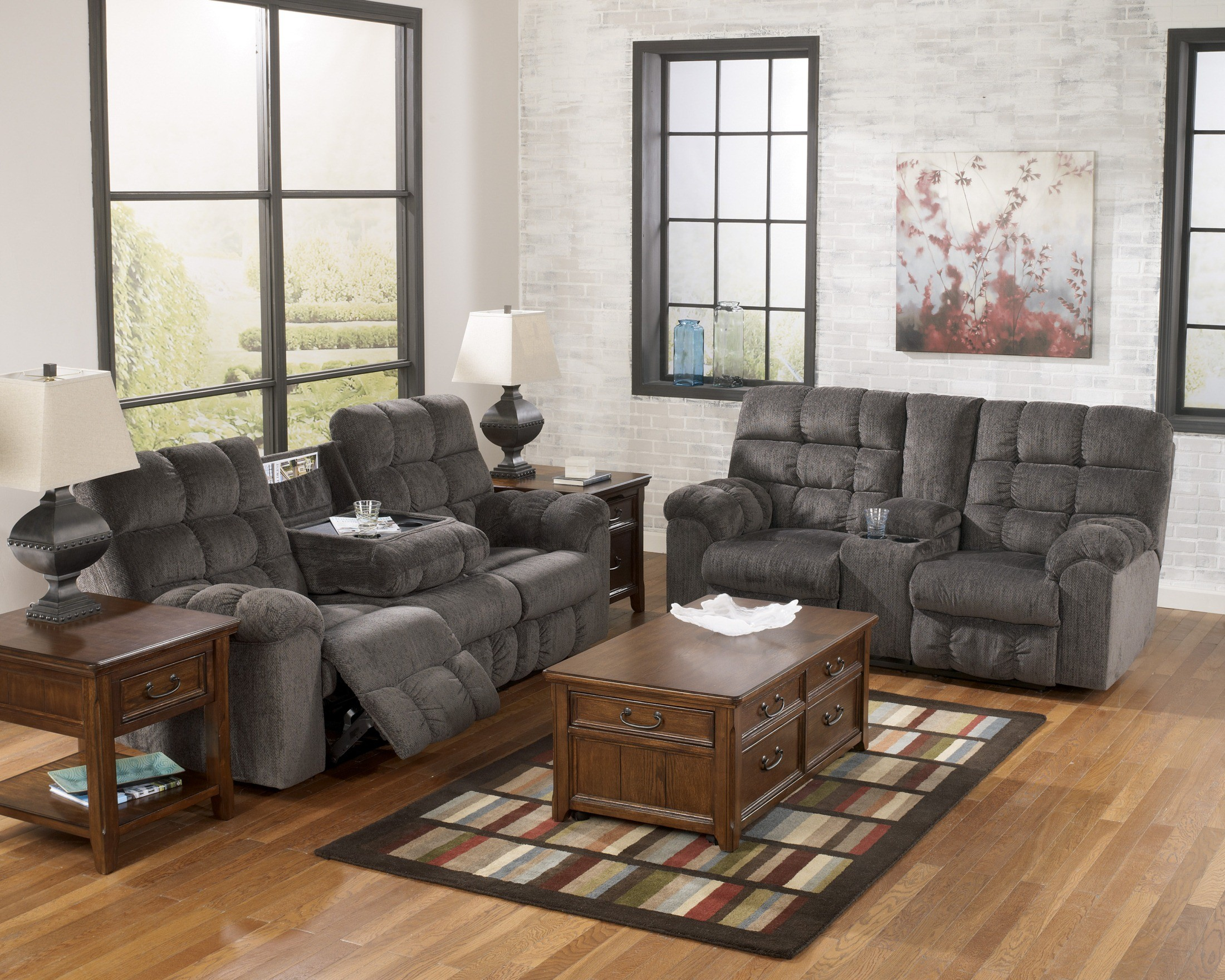 Acieona Slate Living Room Set From Ashley 58300