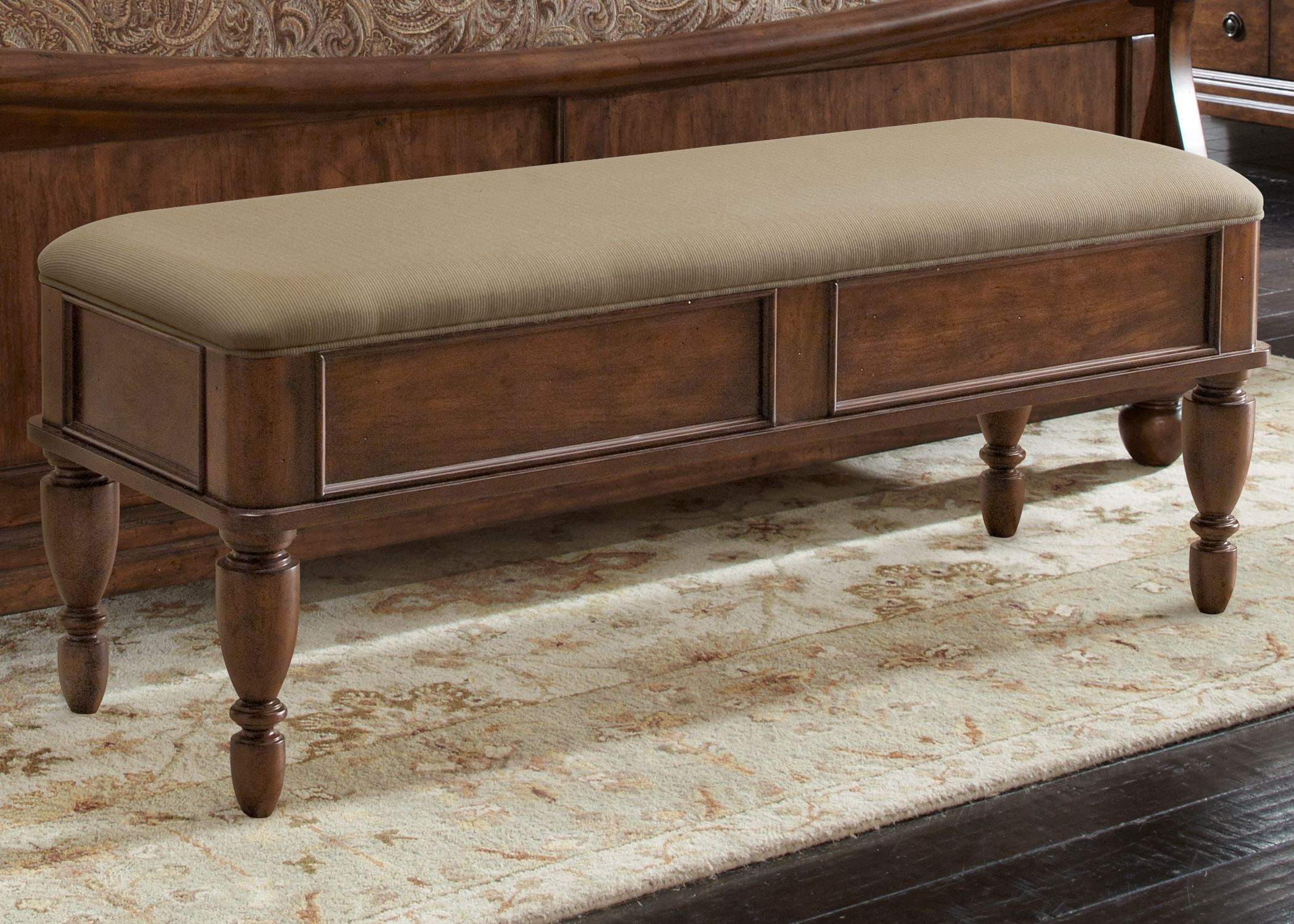 rustic traditions bed bench from liberty 589 br47