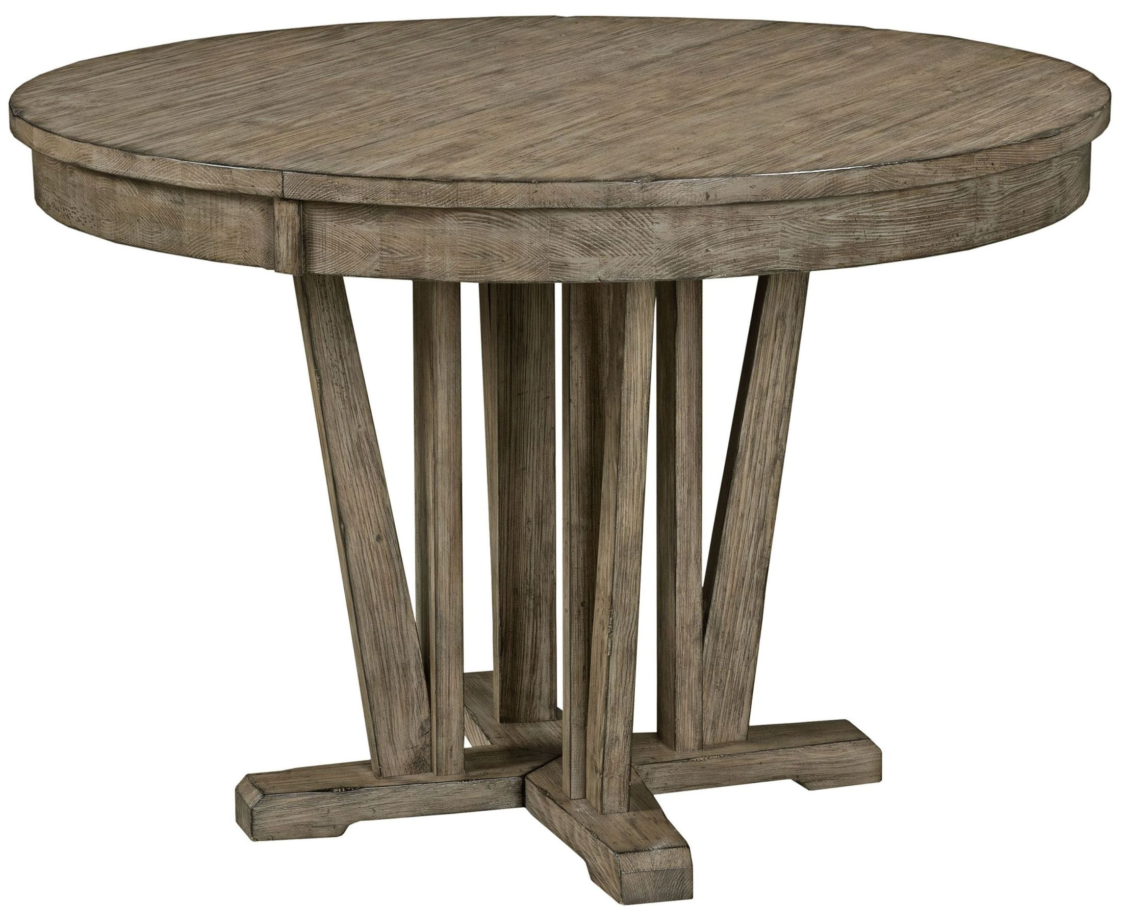foundry extendable round dining table from kincaid 59 052