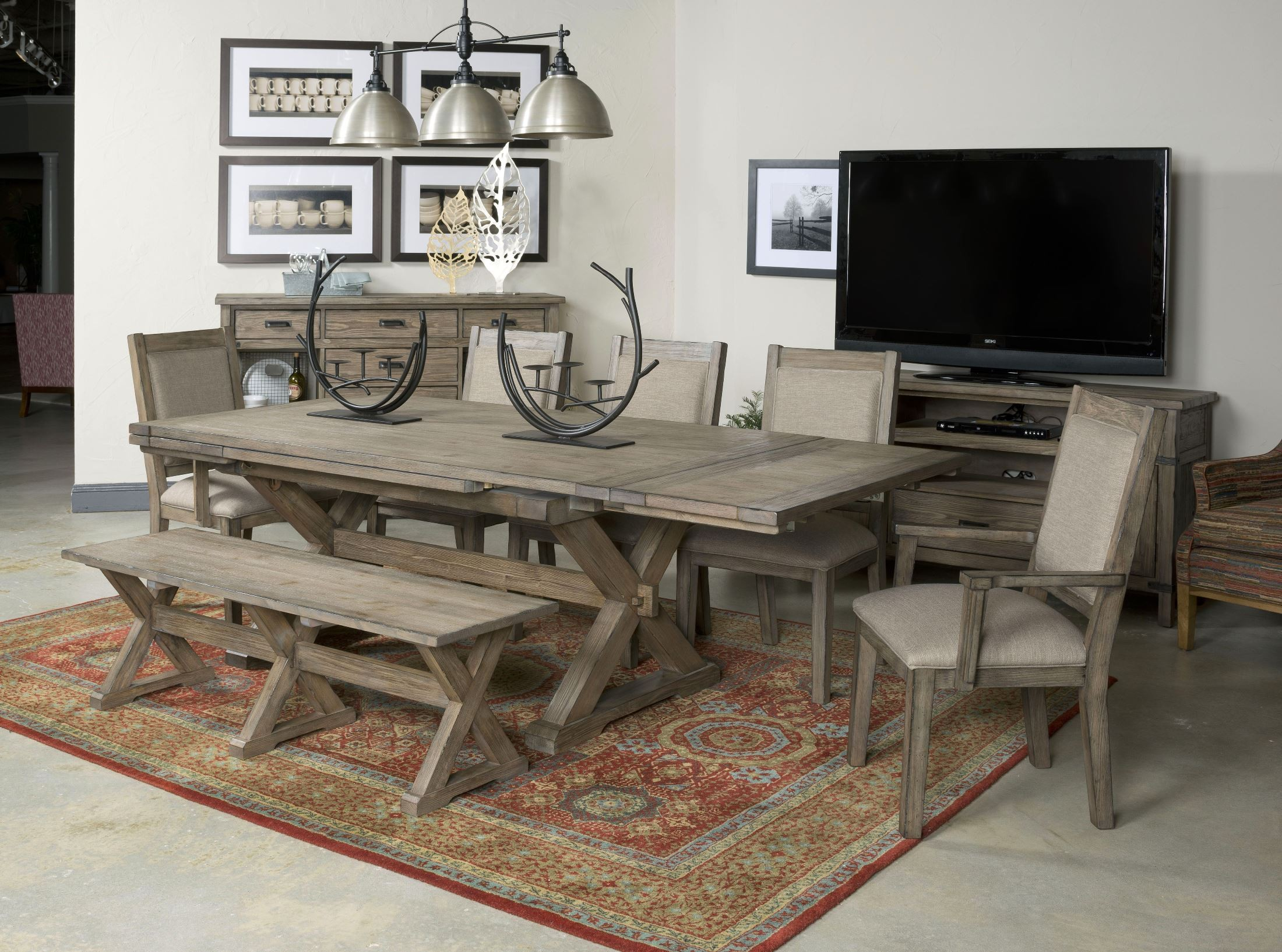 Foundry Extendable Saw Buck Dining Table from Kincaid (59-056 ...