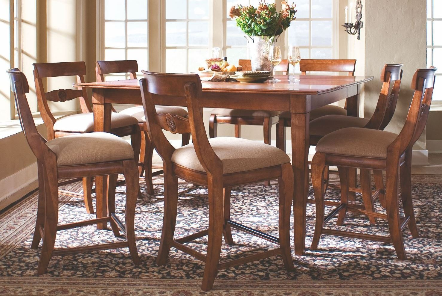 tuscano counter height table dining room set