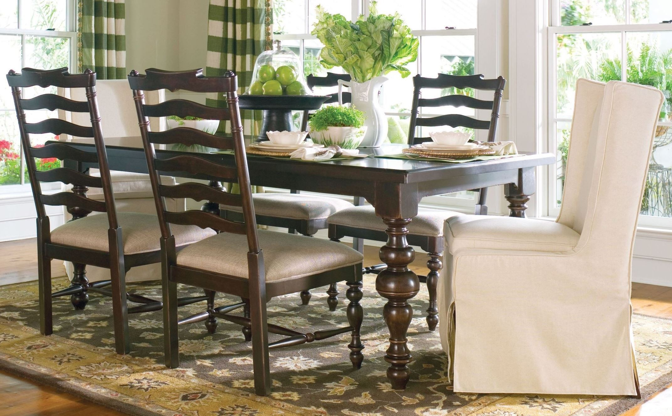 paula deen home tobacco rectangular extendable dining room set from