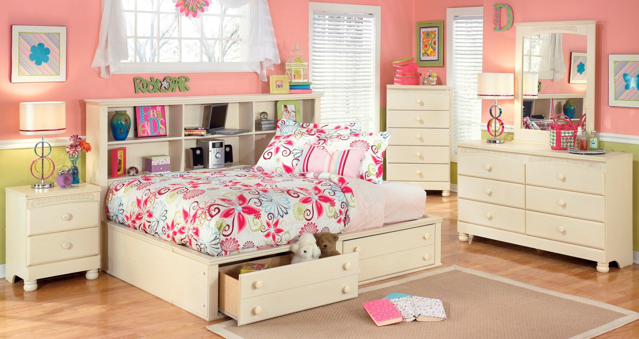 cottage retreat youth bedside storage bedroom set from ashley b213 05