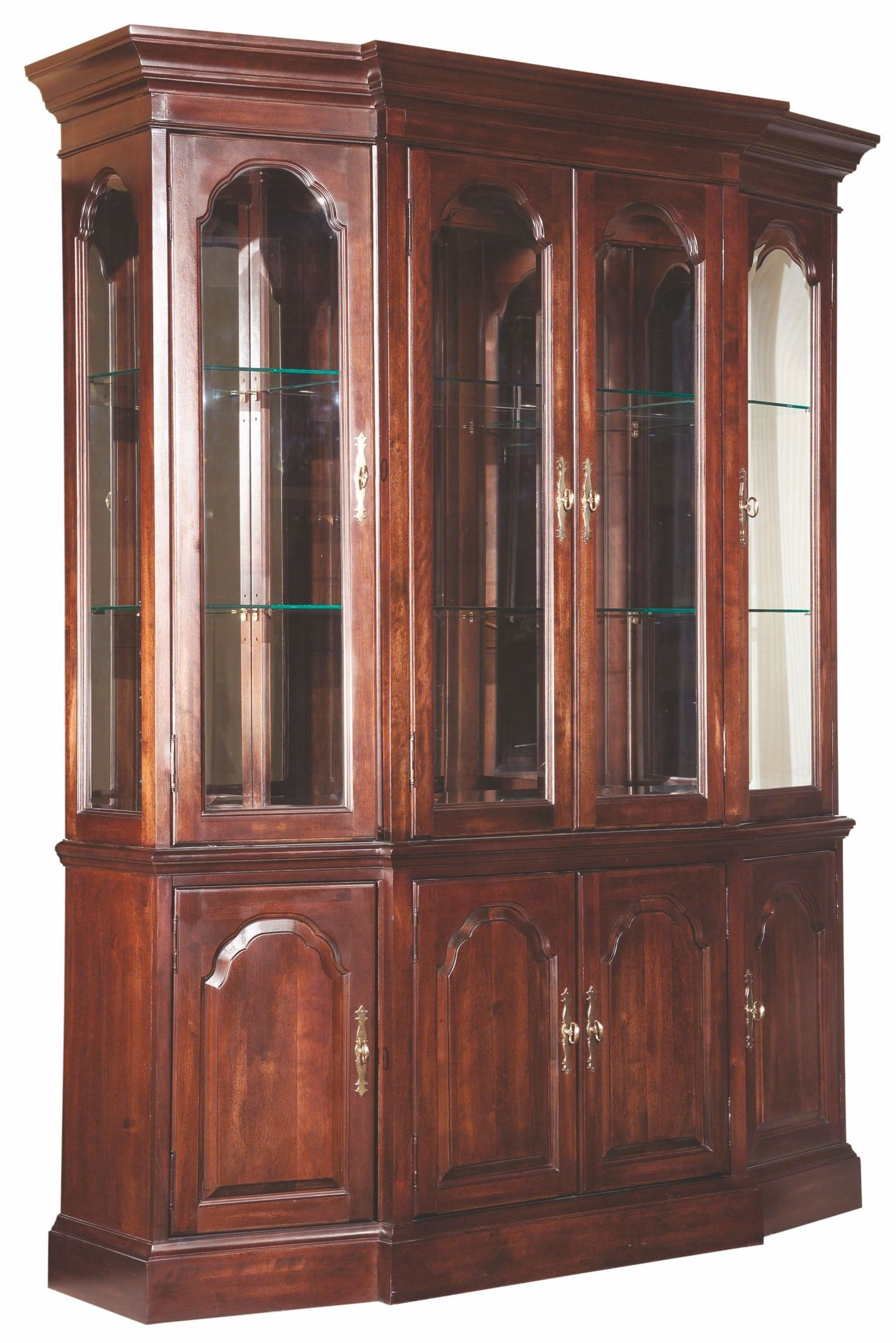 Carriage house canted china cabinet 60 086p kincaid for Carriage house kitchen cabinets