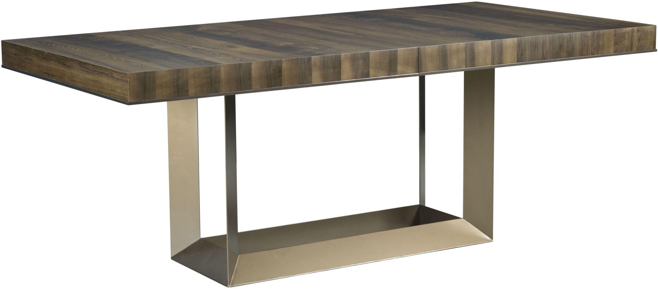 Ad modern organics smokey quartz bandon extendable for Modern rectangular dining table