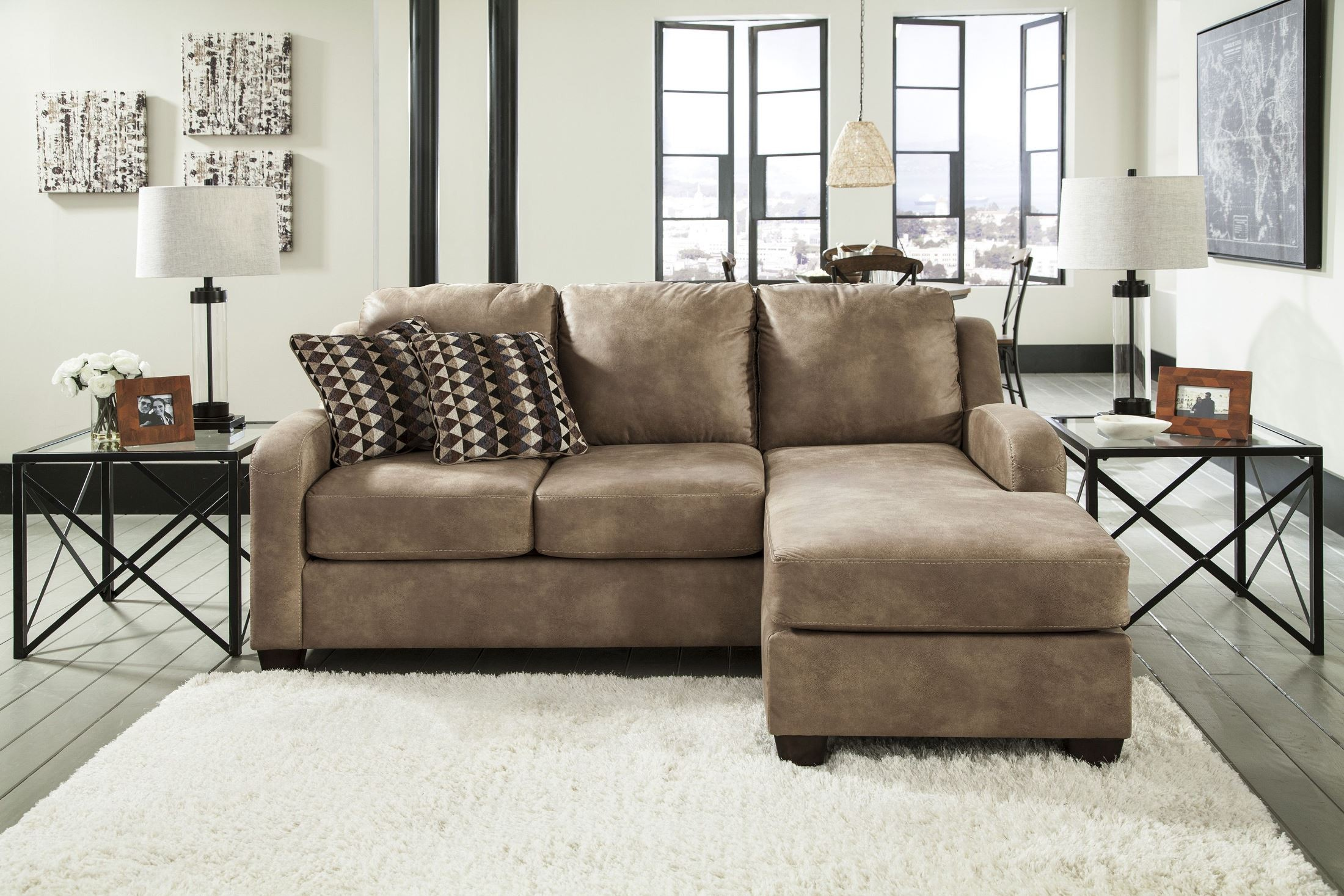 Alturo dune sofa chaise from ashley 6000318 coleman for Ashley chaise lounge recliner