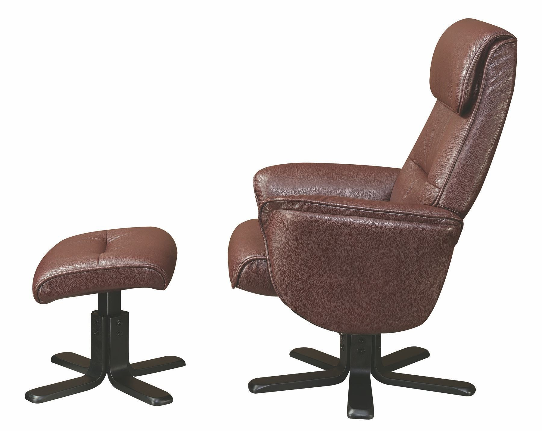 Brown glider recliner with ottoman 600057 coaster furniture for Chair with ottoman