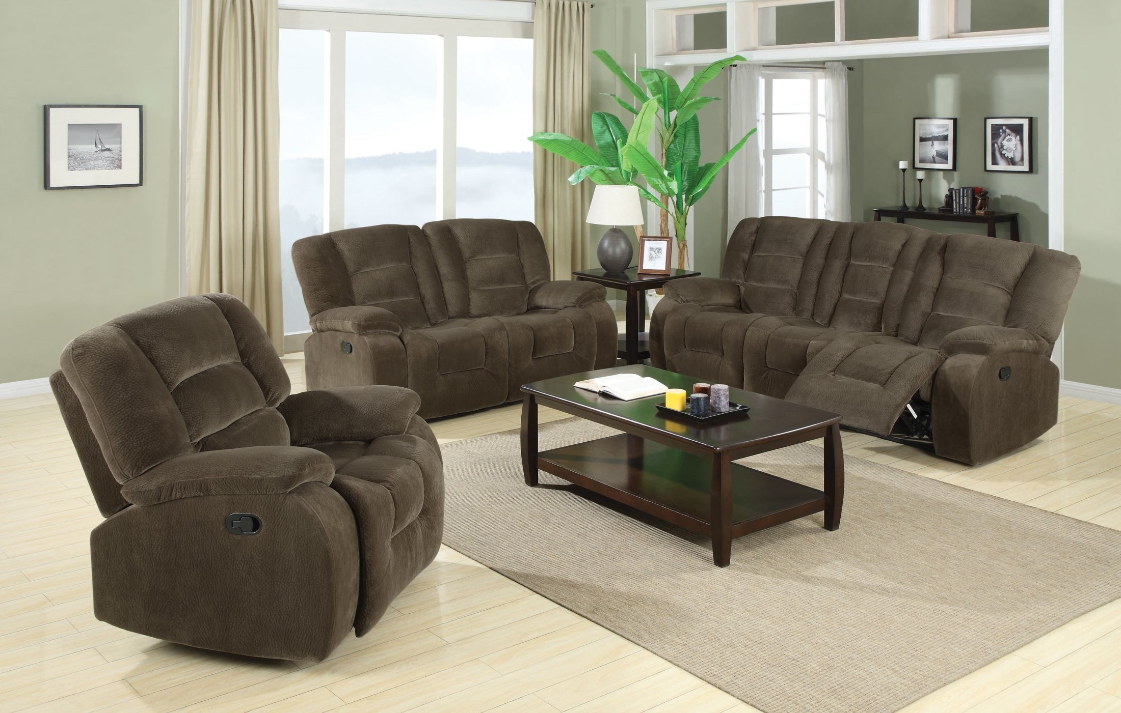 Charlie Brown Sage Reclining Living Room Set From Coaster