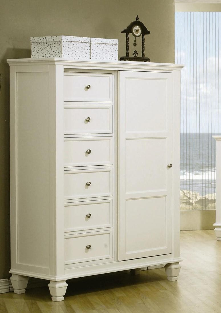 sandy beach white sleigh storage bedroom set 201309 from