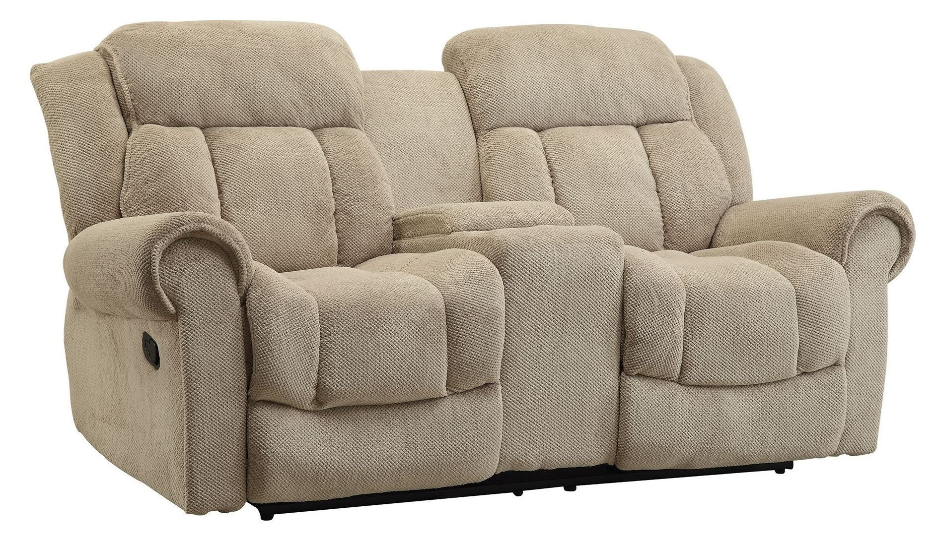 Reige Motion Taupe Reclining Loveseat From Coaster 601592