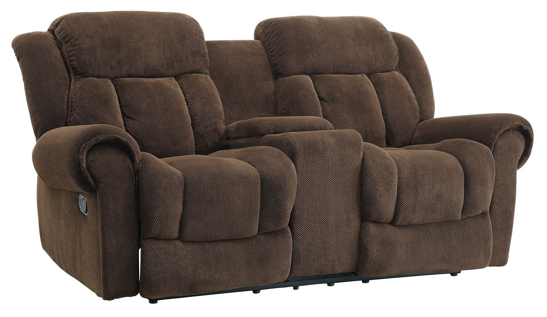 Reige Motion Chocolate Reclining Loveseat From Coaster