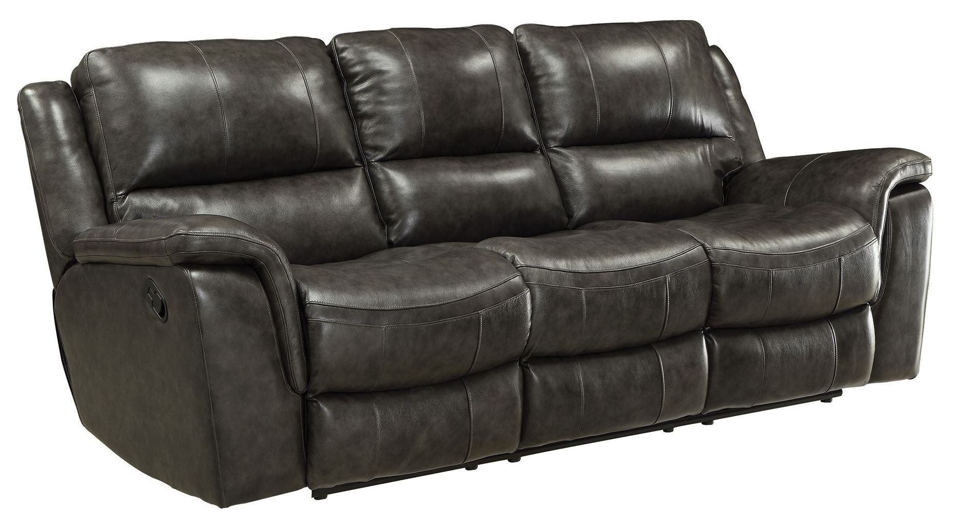 Wingfield charcoal reclining sofa from coaster 601821 for Charcoal sofa
