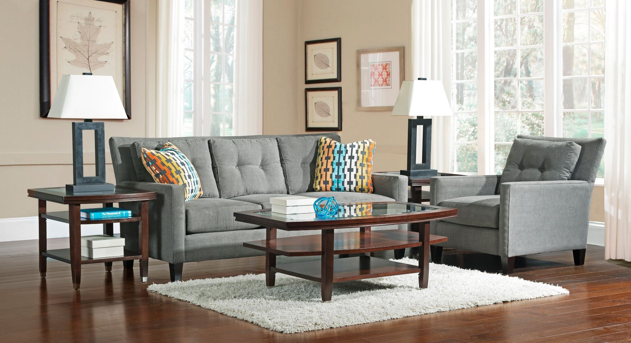 jevin affinity microfiber living room set from broyhill