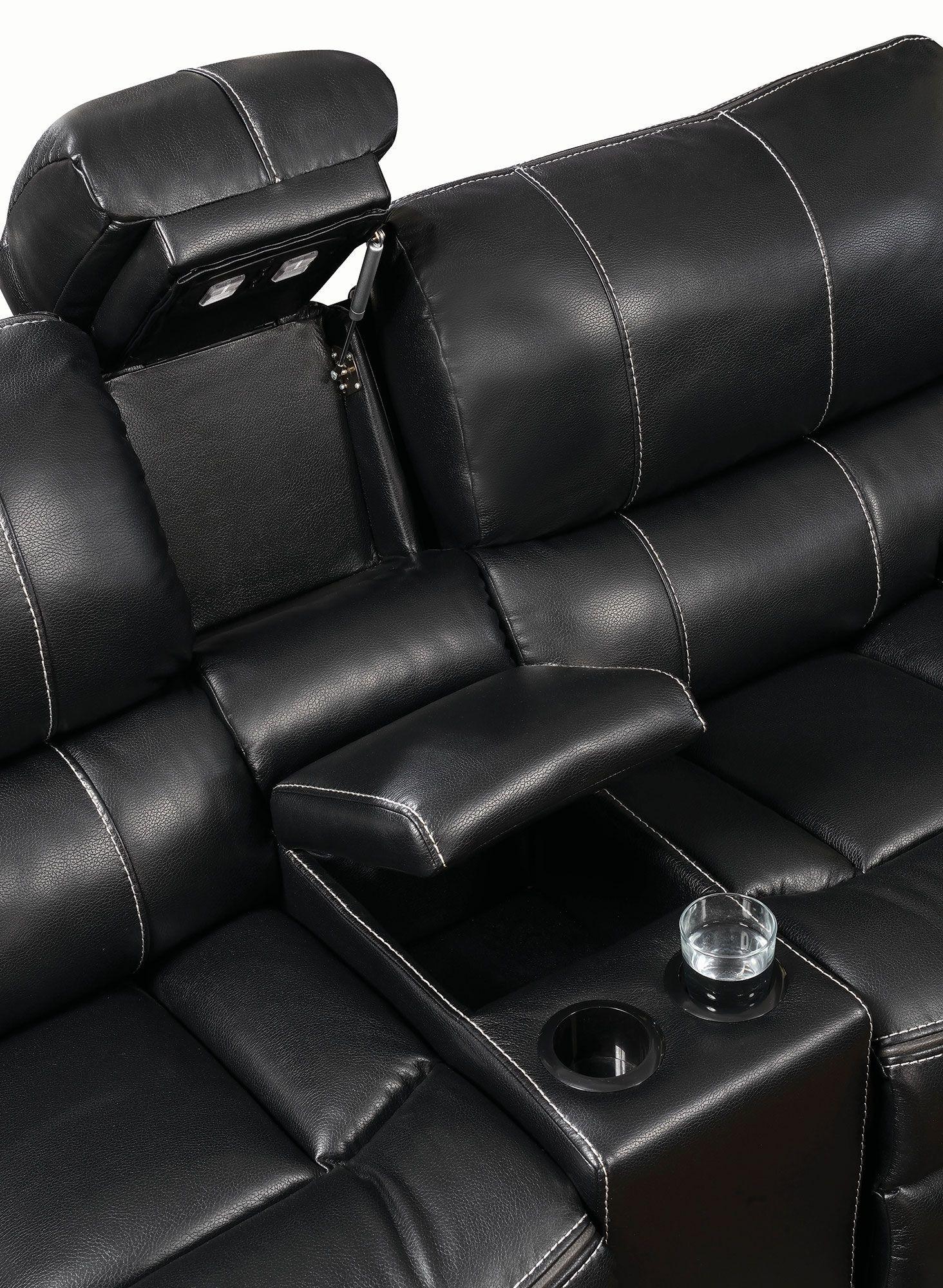 Willemse Black Reclining Loveseat 601935 Coaster Furniture
